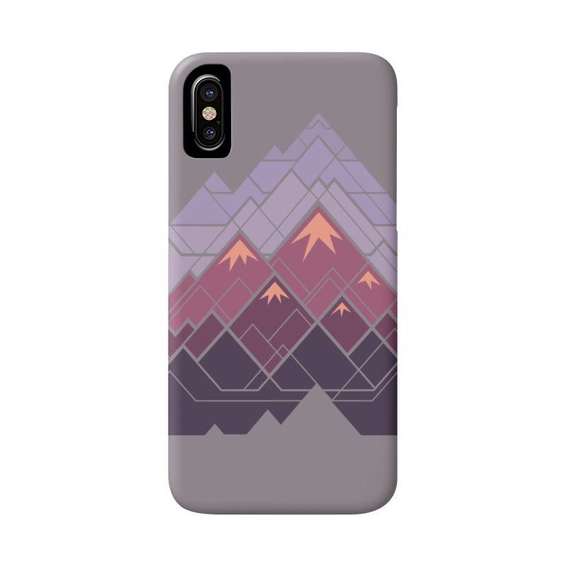 Geometric Mountains: Sunset Accessories Phone Case by Waynem