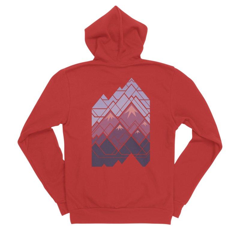 Geometric Mountains: Sunset Women's Zip-Up Hoody by Waynem