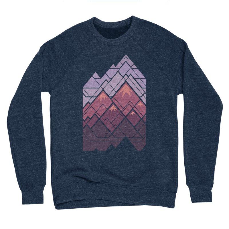 Geometric Mountains: Sunset Men's Sponge Fleece Sweatshirt by Waynem