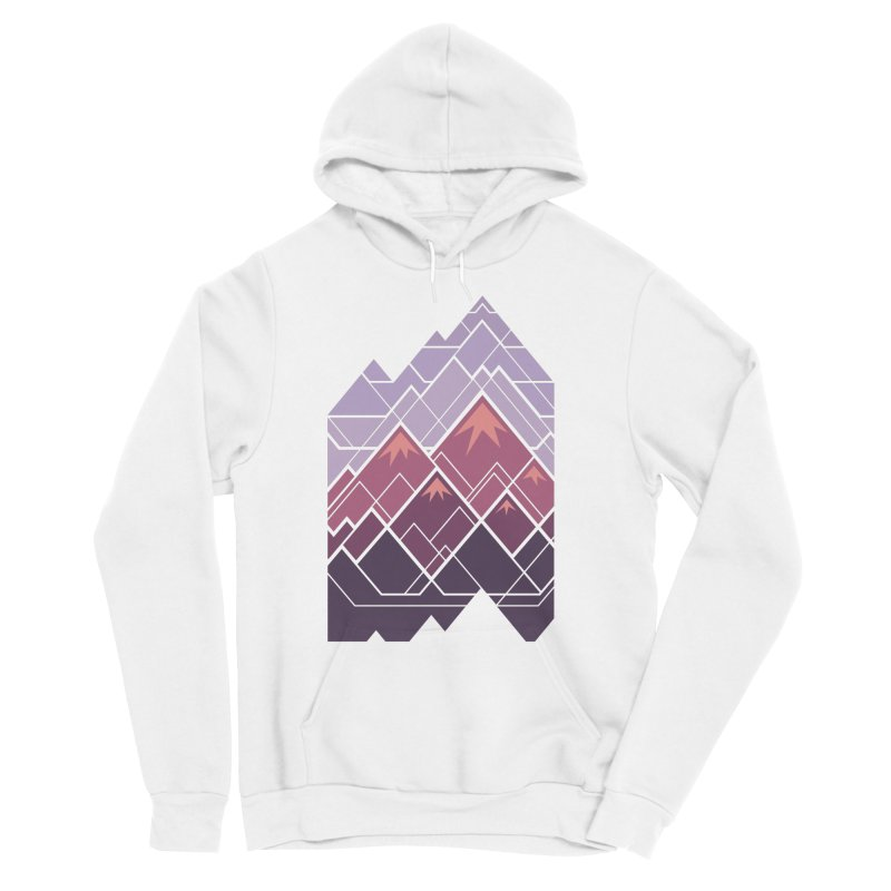 Geometric Mountains: Sunset Women's Sponge Fleece Pullover Hoody by Waynem