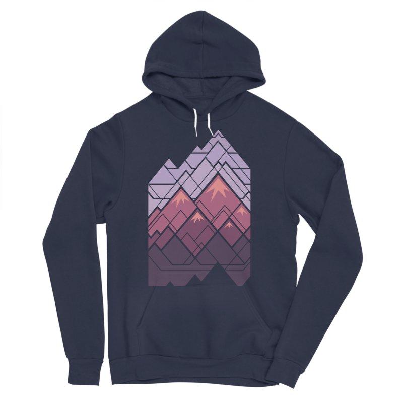 Geometric Mountains: Sunset Women's Sponge Fleece Pullover Hoody by Waynem