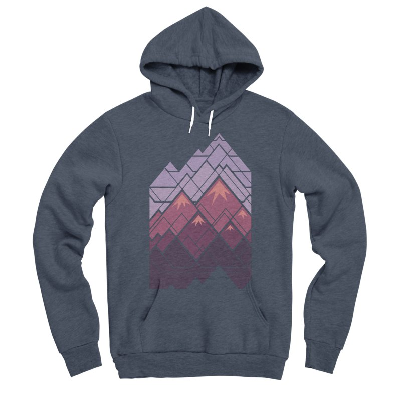 Geometric Mountains: Sunset Men's Sponge Fleece Pullover Hoody by Waynem