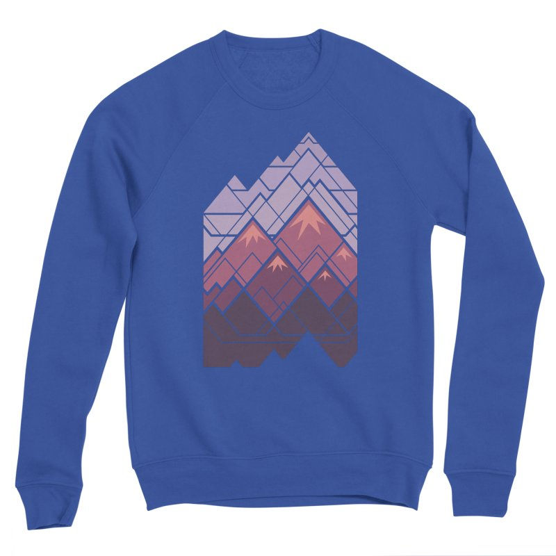 Geometric Mountains: Sunset Women's Sponge Fleece Sweatshirt by Waynem