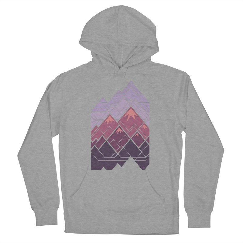 Geometric Mountains: Sunset Women's French Terry Pullover Hoody by Waynem