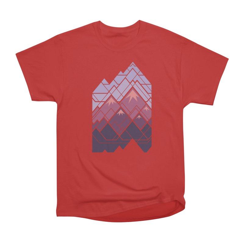 Geometric Mountains: Sunset Women's Heavyweight Unisex T-Shirt by Waynem