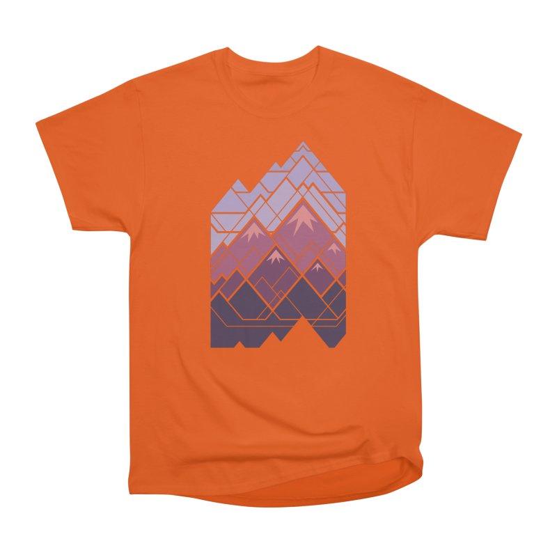 Geometric Mountains: Sunset Women's T-Shirt by Waynem