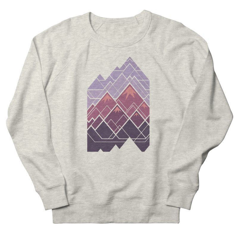 Geometric Mountains: Sunset Women's French Terry Sweatshirt by Waynem