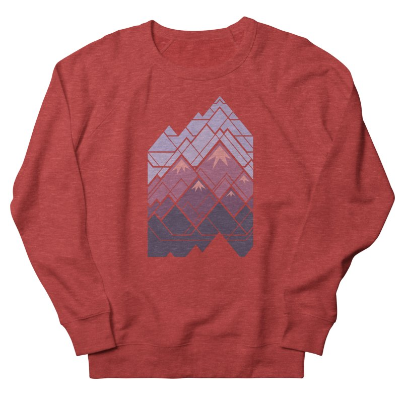 Geometric Mountains: Sunset Men's French Terry Sweatshirt by Waynem
