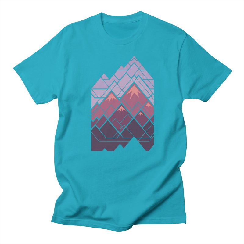 Geometric Mountains: Sunset Women's Regular Unisex T-Shirt by Waynem