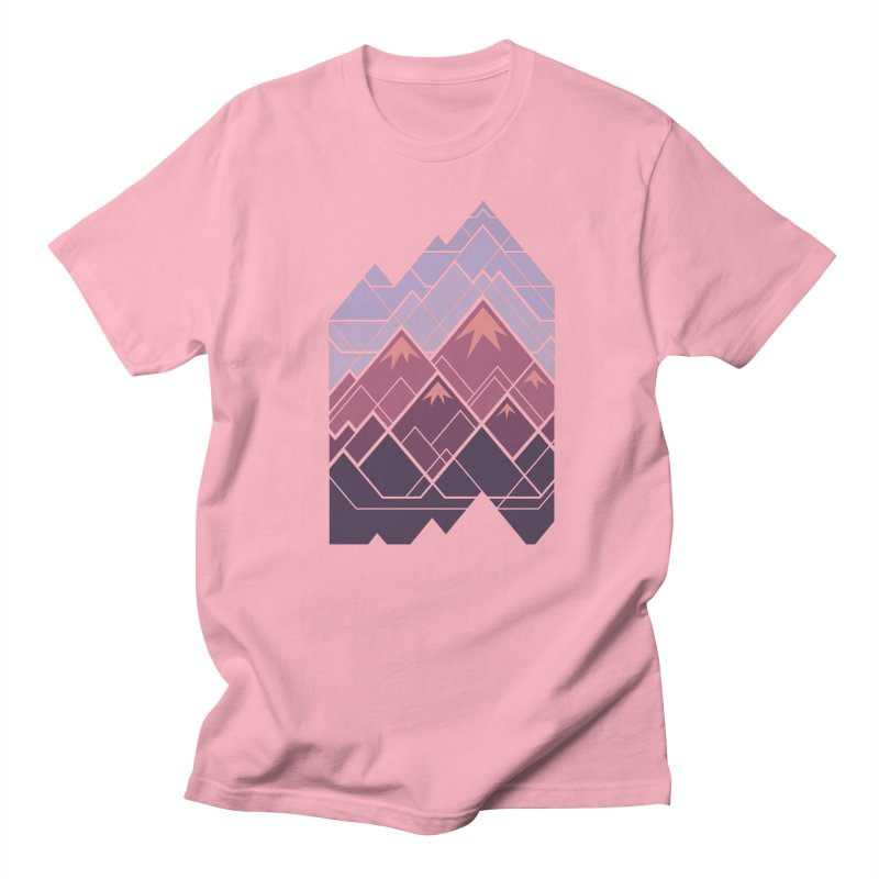 Geometric Mountains: Sunset Women's Regular Unisex T-Shirt by Waynem