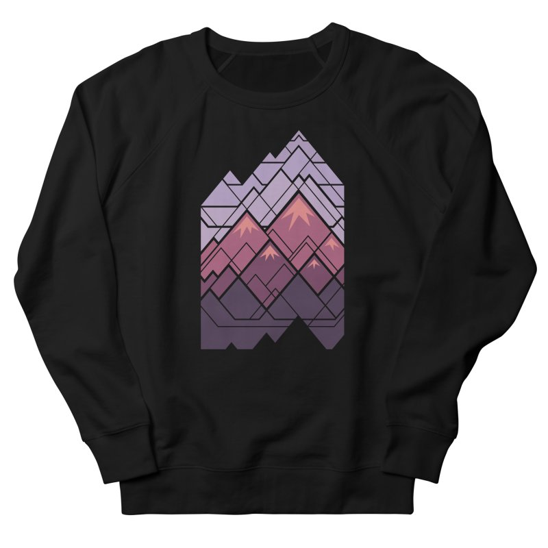 Geometric Mountains: Sunset Women's French Terry Sweatshirt by Waynem