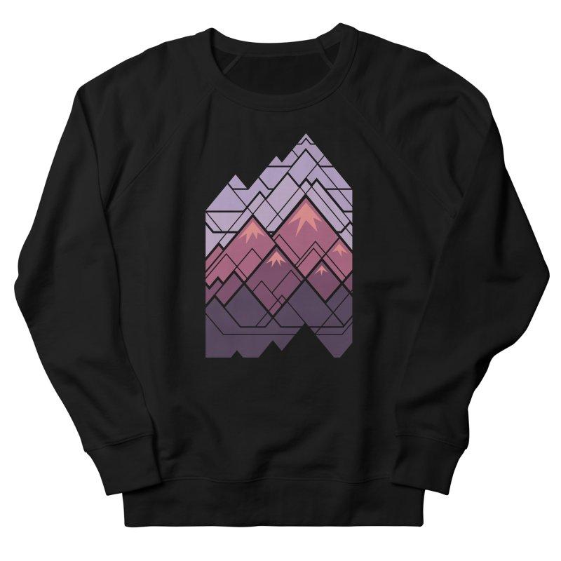 Geometric Mountains: Sunset Men's French Terry Sweatshirt by Waynem