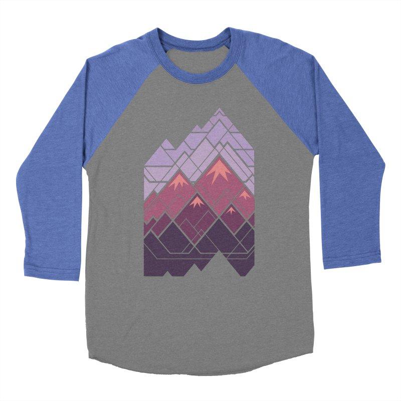 Geometric Mountains: Sunset Women's Baseball Triblend Longsleeve T-Shirt by Waynem
