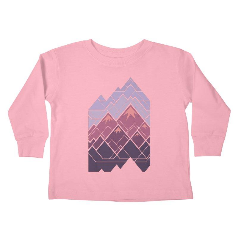 Geometric Mountains: Sunset Kids Toddler Longsleeve T-Shirt by Waynem