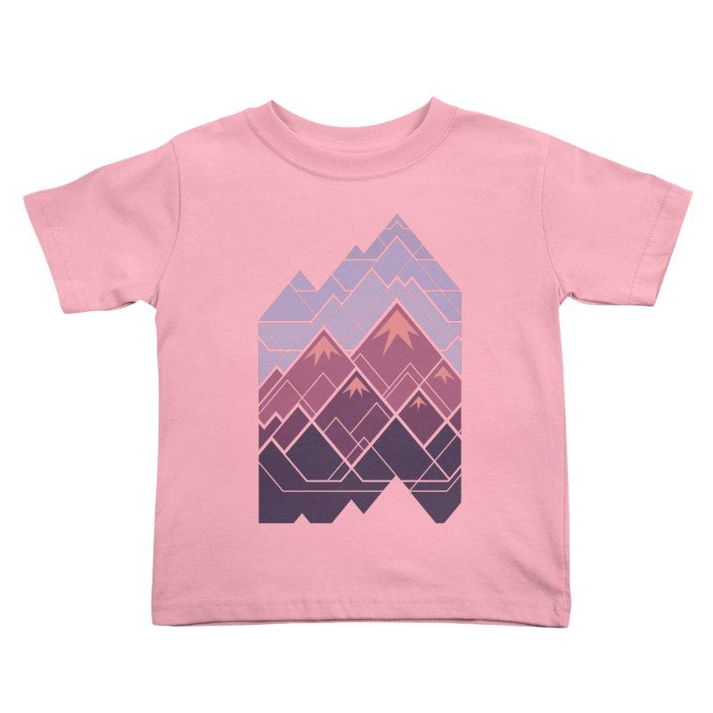 Geometric Mountains: Sunset Kids Toddler T-Shirt by Waynem