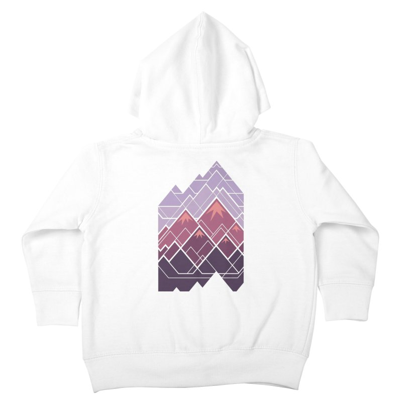 Geometric Mountains: Sunset Kids Toddler Zip-Up Hoody by Waynem