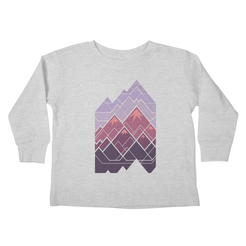 Geometric Mountains: Sunset Kids Toddler Longsleeve T-Shirt by Waynem