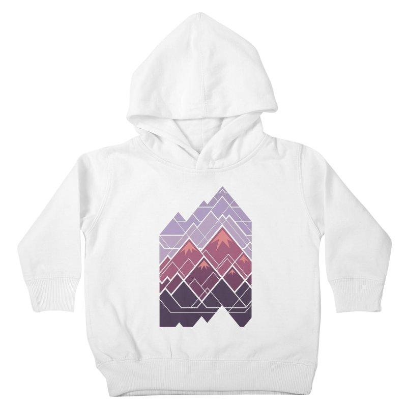 Geometric Mountains: Sunset Kids Toddler Pullover Hoody by Waynem