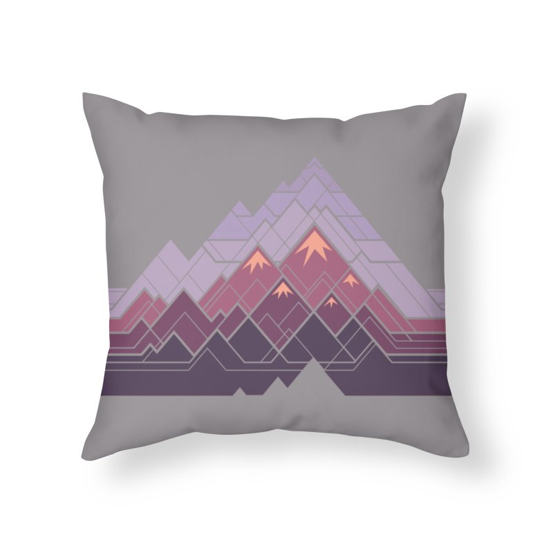 Geometric Mountains: Sunset Home Throw Pillow by Waynem