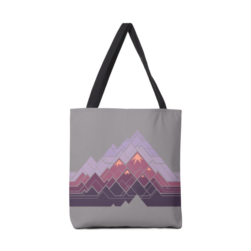 Geometric Mountains: Sunset Accessories Bag by Waynem