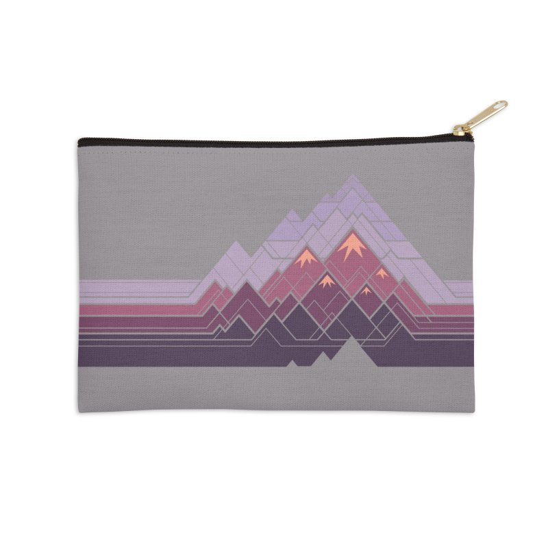 Geometric Mountains: Sunset Accessories Zip Pouch by Waynem