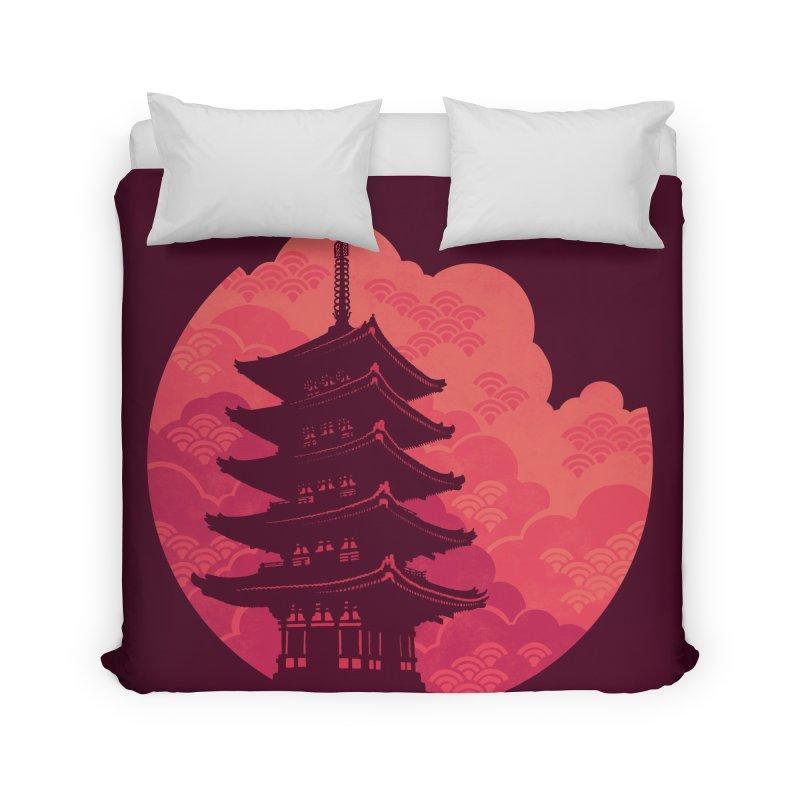 Pagoda Sunset Home Duvet by Waynem