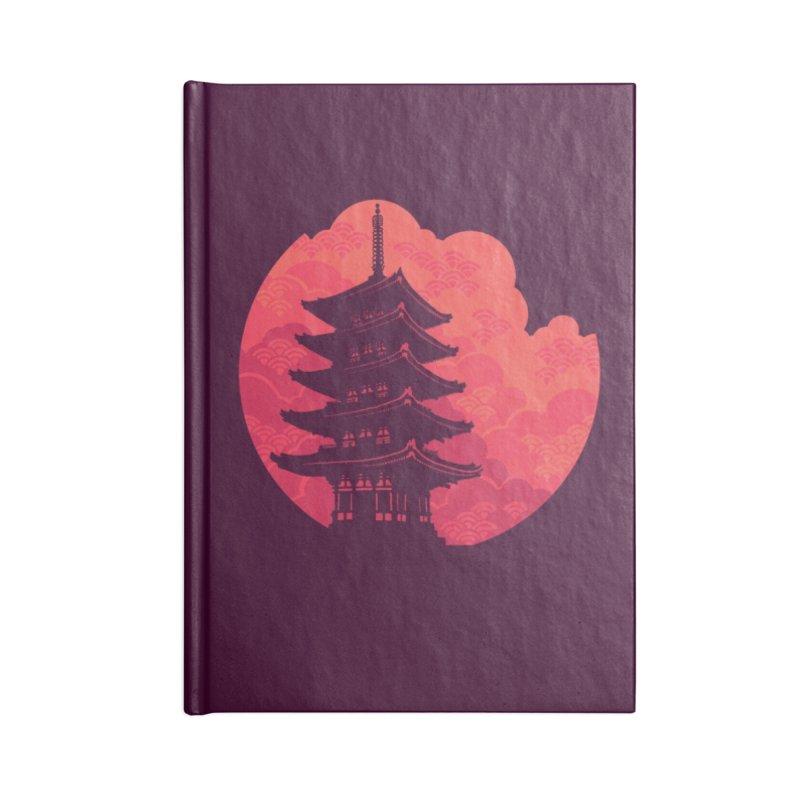 Pagoda Sunset Accessories Notebook by Waynem