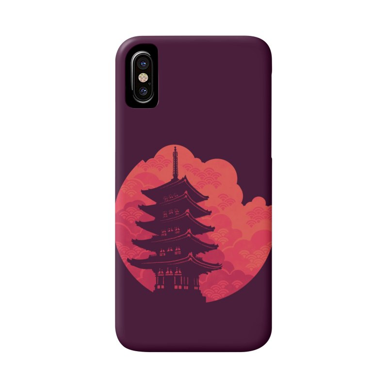 Pagoda Sunset Accessories Phone Case by Waynem
