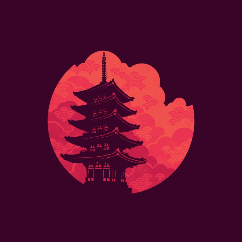 Pagoda Sunset by Waynem
