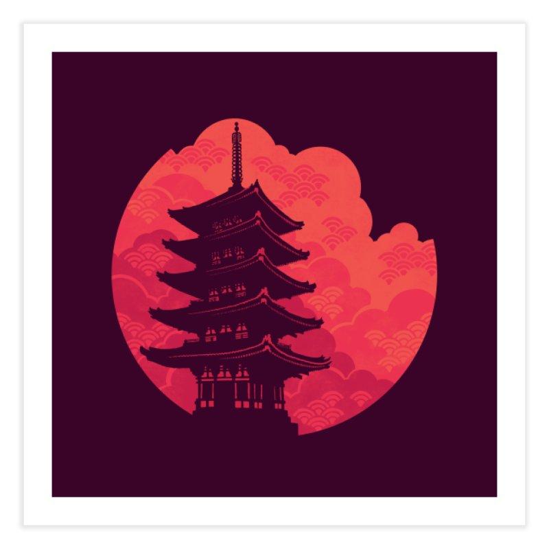 Pagoda Sunset Home Bath Mat by Waynem