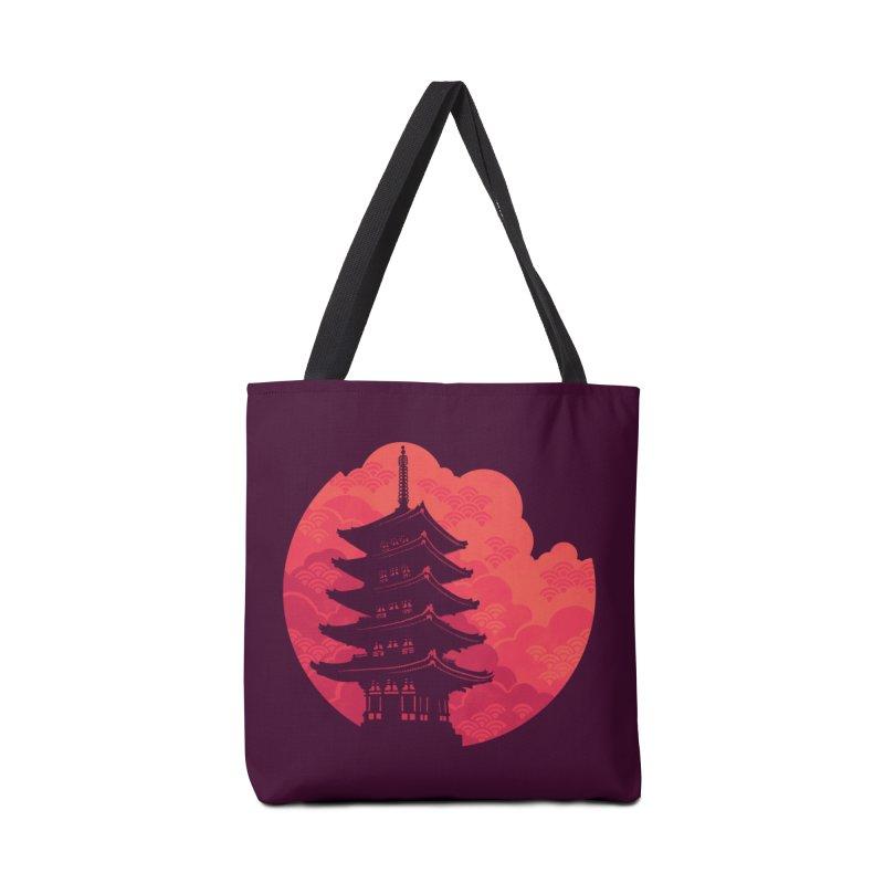 Pagoda Sunset Accessories Bag by Waynem
