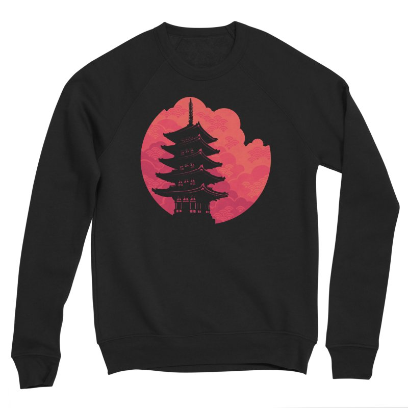 Pagoda Sunset Men's Sponge Fleece Sweatshirt by Waynem