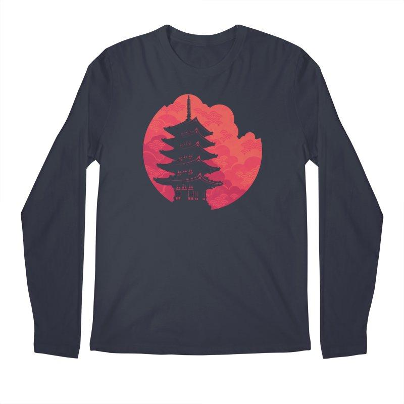Pagoda Sunset Men's Regular Longsleeve T-Shirt by Waynem
