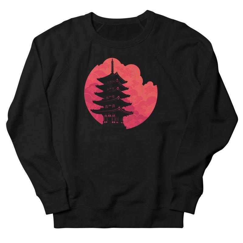 Pagoda Sunset Women's French Terry Sweatshirt by Waynem