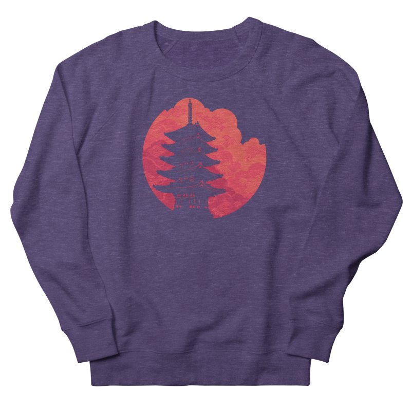 Pagoda Sunset Men's French Terry Sweatshirt by Waynem