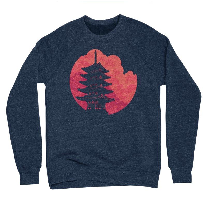 Pagoda Sunset Women's Sponge Fleece Sweatshirt by Waynem
