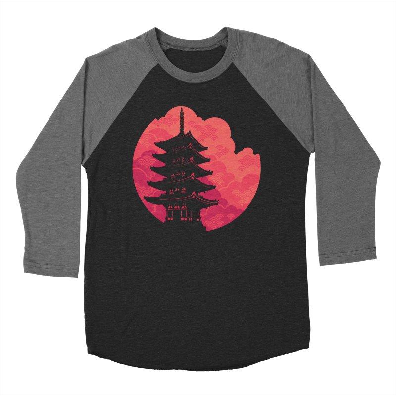 Pagoda Sunset Women's Longsleeve T-Shirt by Waynem