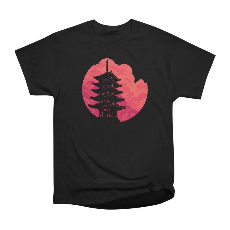 Pagoda Sunset Men's Heavyweight T-Shirt by Waynem