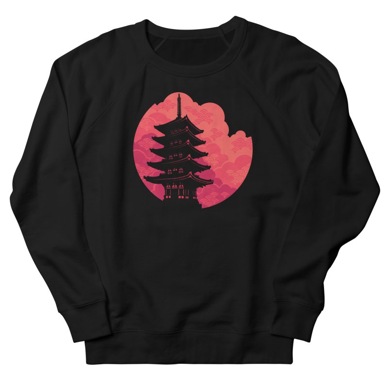 Pagoda Sunset Men's French Terry Sweatshirt by Waynem