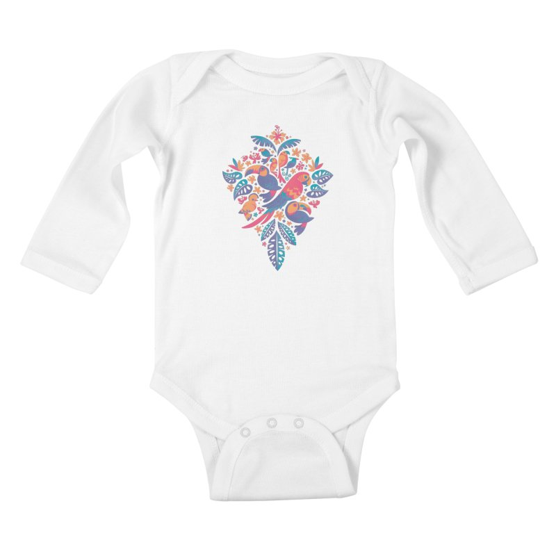 Tropicana II Kids Baby Longsleeve Bodysuit by Waynem