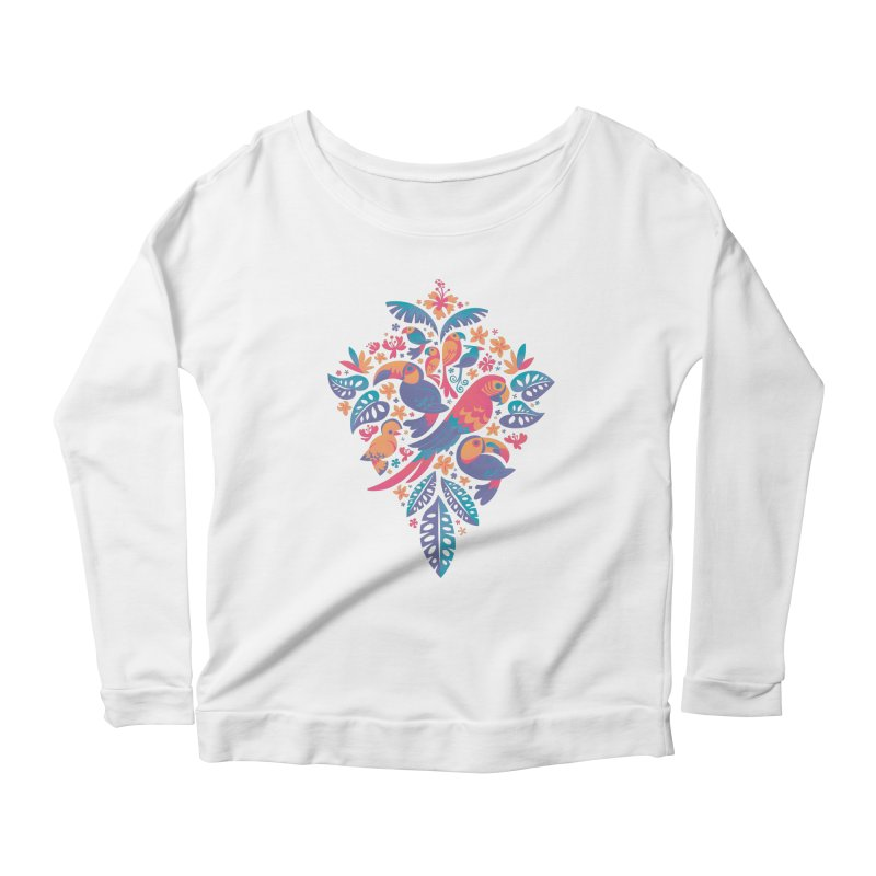 Tropicana II Women's Scoop Neck Longsleeve T-Shirt by Waynem