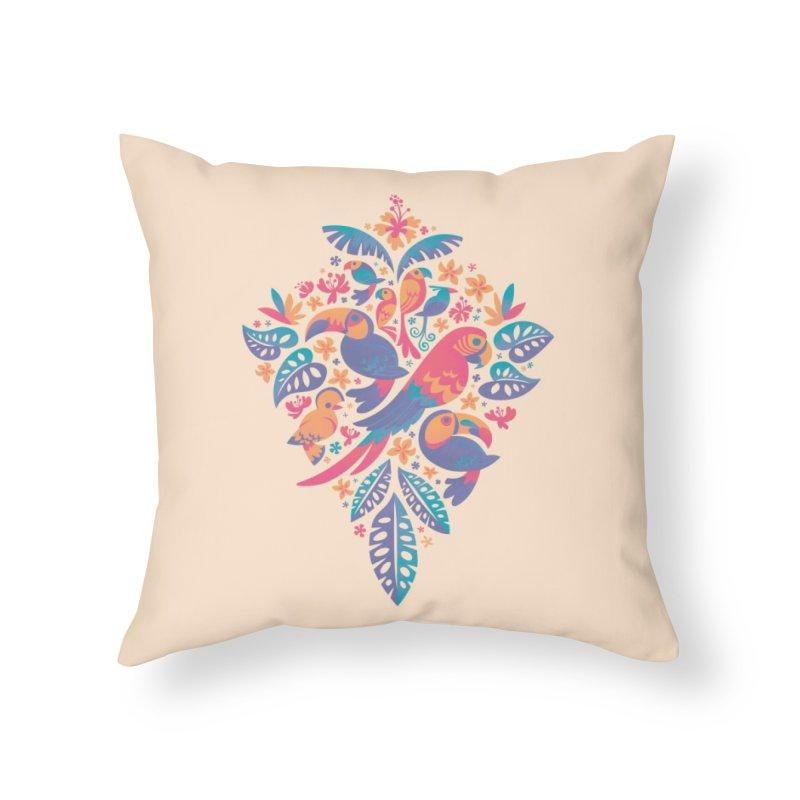 Tropicana II Home Throw Pillow by Waynem