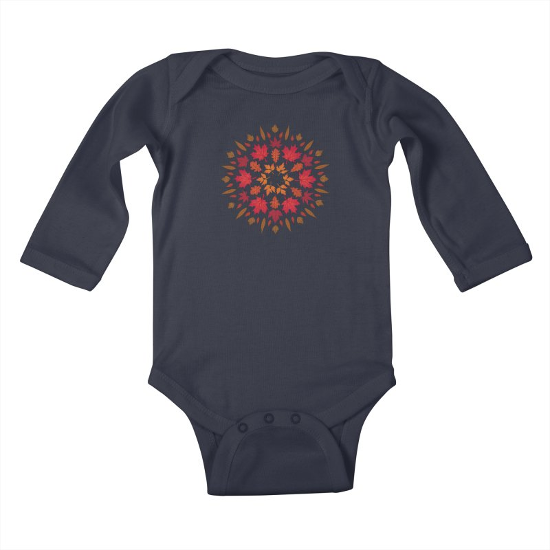 Autumn Sun Kids Baby Longsleeve Bodysuit by Waynem