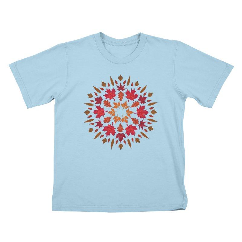 Autumn Sun Kids T-Shirt by Waynem