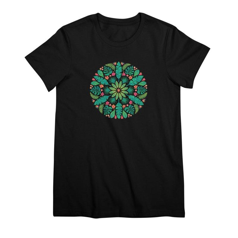 Tropical Sun Women's Premium T-Shirt by Waynem