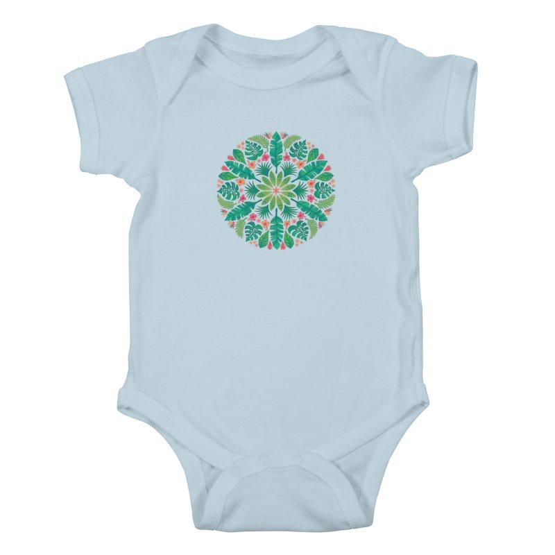Tropical Sun Kids Baby Bodysuit by Waynem