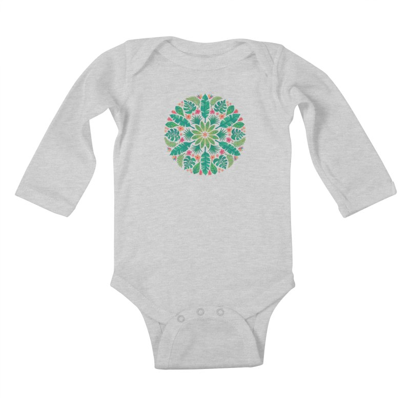 Tropical Sun Kids Baby Longsleeve Bodysuit by Waynem