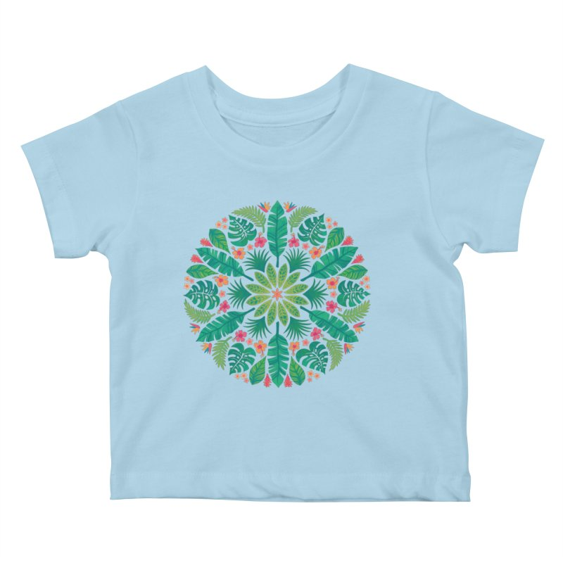 Tropical Sun Kids Baby T-Shirt by Waynem