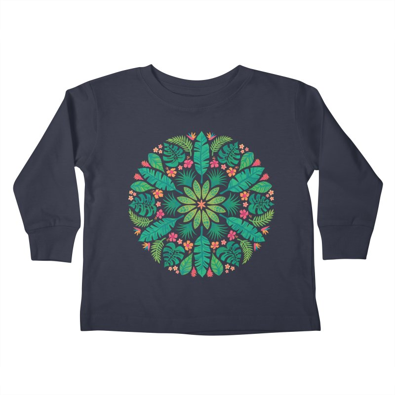 Tropical Sun Kids Toddler Longsleeve T-Shirt by Waynem