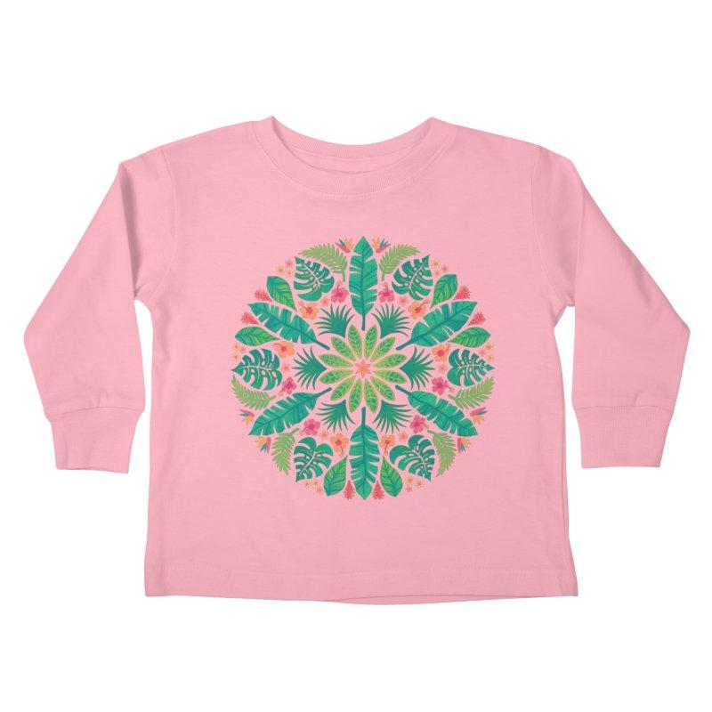 Tropical Sun Kids Toddler Longsleeve T-Shirt by Waynem